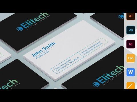 Business Card Templates Tech Startup Business Card Business Cards Creative Templates Start Up Business Business Card Template Design