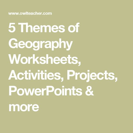 5 Themes of Geography Worksheets Activities Projects – Five Themes of Geography Worksheet