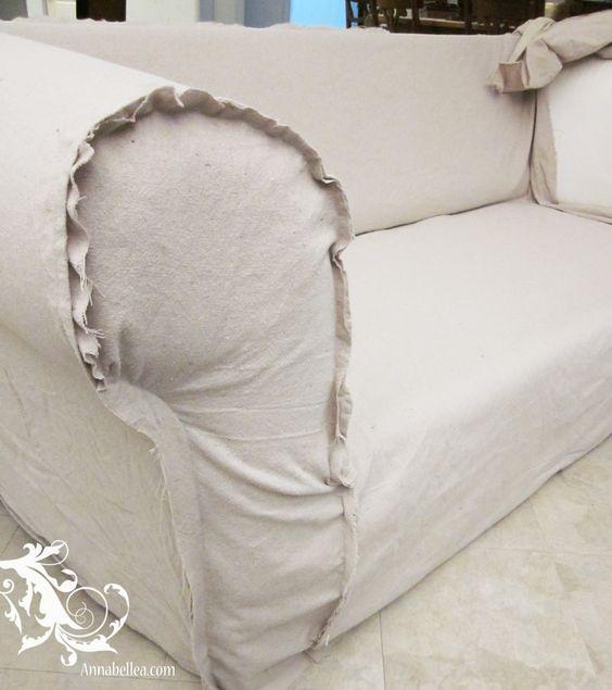 Drop Cloth Slipcover Sew What Pinterest Doe Het