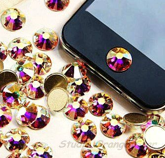Bling Bling iPhone Home Button Stickers - iPod iPad iPhone Home Button Stickers Diamond