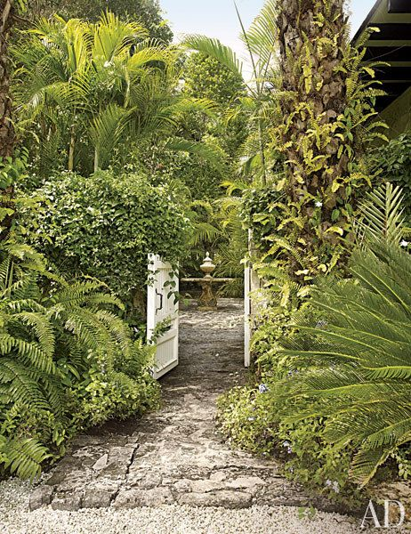 Oscar de La Renta's Lush Garden in the Dominican Republic Photos | Architectural Digest:
