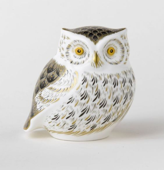 Royal Crown Derby Little Grey Owl: