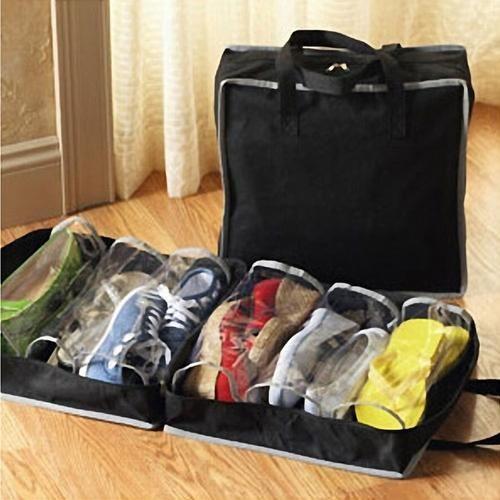 Portable Waterproof Foldable Sports Shoes Bag Shoe Storage Box Travel Home Use