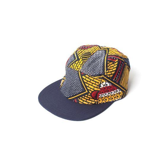 cewax.fr aime cette casquette en tissu africain wax style ethnique afro tendance tribale african print ankara bleu jaune