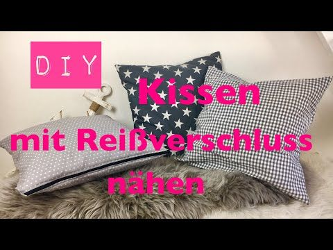 Diy Kissen Mit Reissverschluss Nahen Nahen Fur Anfanger Diy