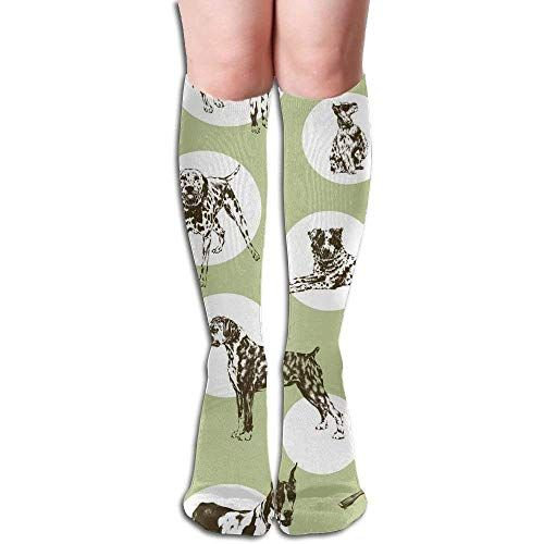 Pizza And Drinks Pattern Compression Socks For Women 3D Print Knee High Boot