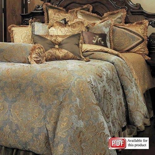 Camas De Luxo Quartocontemporâneo, Brown Luxury Bedding Sets