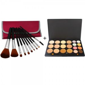 20 Color Concealer Camouflage Eyeshadow Palette + 10pcs Makeup Brush Set with Bag Peachblossom Red. 20 Color Professional Makeup Concealer Camouflage Eyeshadow Palette A good eyeshadow palette is an essential for your makeup. This eyeshadow palettte offers a complete assortment of colors for your selection, so that you can choose suitable color to fit your complexion, apparel and accessories on different occasions. High-quality ingredients make silky color and long-lasting makeup without…