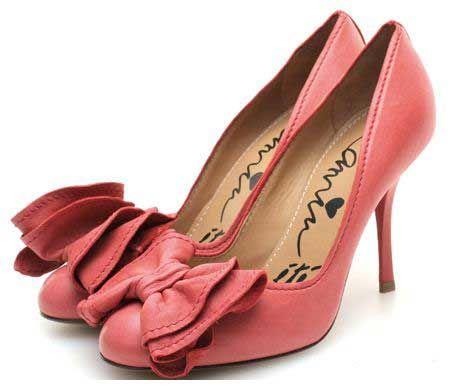 Lanvin coral pink bow pumps By > Shoeperwoman