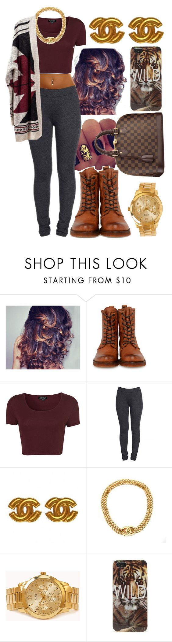 """""""She Gone Do What She Want And That's Okay"""" by dajvuuloaf ❤ liked on Polyvore featuring Frye, Topshop, Chanel, Louis Vuitton, Forever 21 and With Love From CA"""