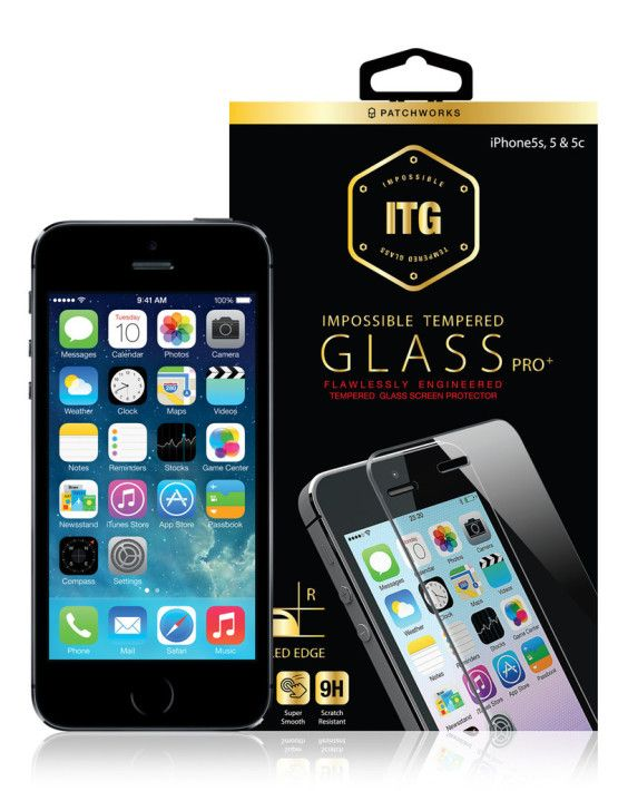 Description Reviews (0) Patchworks USG ITG PRO PLUS Beveled Edge Screen Protector is compatible with iPhone SE, iPhone 5s, iPhone 5 and iPhone 5c. This is a scratch resistant screen protector with a 9H hardness, real tempered glass and round beveled edge. The raw glass is made with quality from Japan and is finished manufactured in Korea.