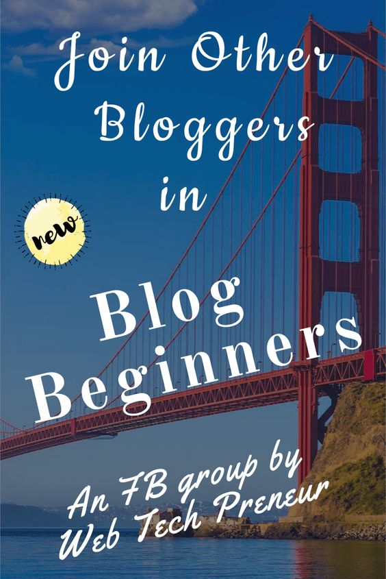 Join the facebook group especially for bloggers