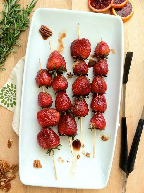 Balsamic and Brown Sugar Grilled Strawberries #brilliant