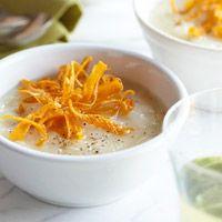 Rosemary Potato Soup with Crispy Carrots