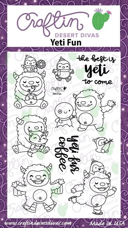 Yeti Fun|Stamp Set|Craftin Desert Divas