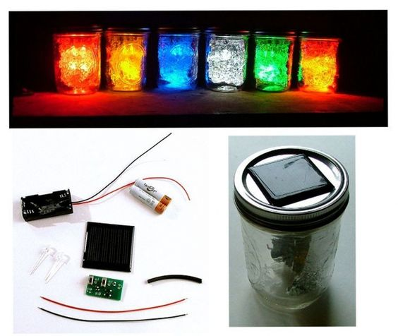 Products jars and diy and crafts on pinterest for Led lights for craft projects