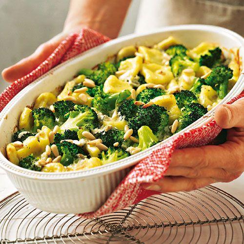 Brokkoli-Kartoffel-Gnocchi-Auflauf
