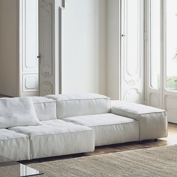 Extra soft modular sofa by Living Divani
