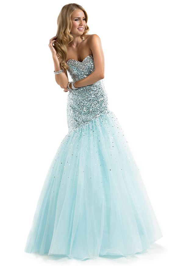 Flirt Prom 2014 Dress Style P7825  Fit-and-Flare Dress with Sequin, Illusion & Ombre Sparkle | by FLIRT  Available Colors: Silver/Aqua, Gold/Black