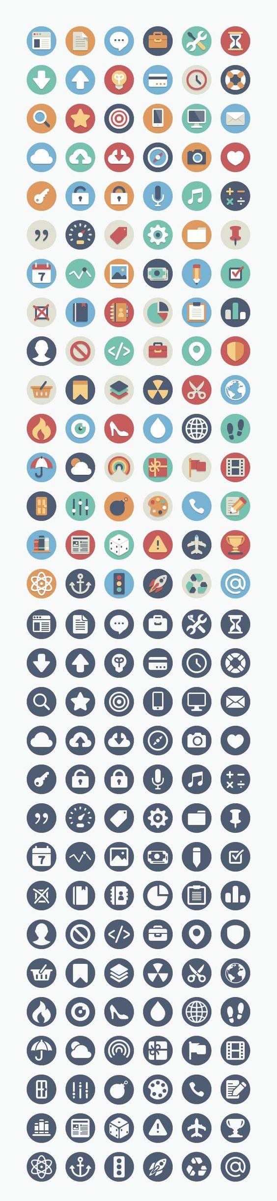Sehr schönes Icon-Set für schulische Projekte (können auch kommerziell genutzt werden. Stehen auch in Vektorformaten zur Verfügung!: