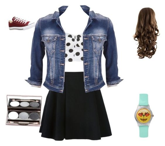 """Going out for a fun night !"" by dtmoor ❤ liked on Polyvore featuring Avelon, Converse and maurices"