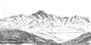 Croquis de montagne
