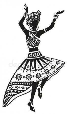 En La Misma Serie Con 81082638 African Woman Dancing Ritual Dance Dessin Africain Afrique Art Peinture Africaine
