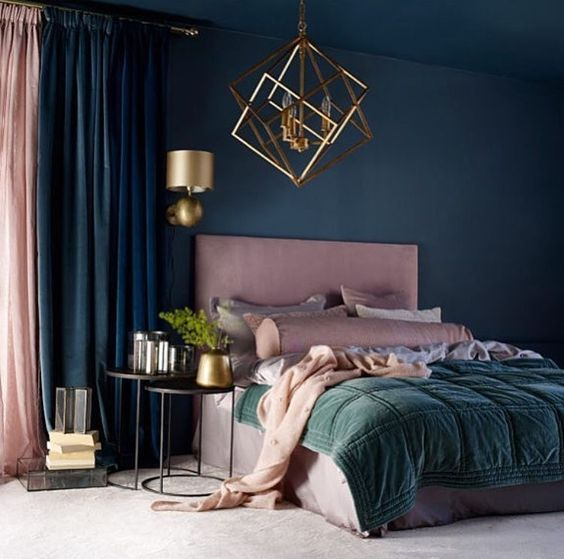 Romantic Adult Bedroom Decor Bedroom In Pink And Blue In 2020