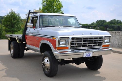 1979 Ford F250 4x4 Flatbed With Dual Rear Wheels Image 5 Lifted