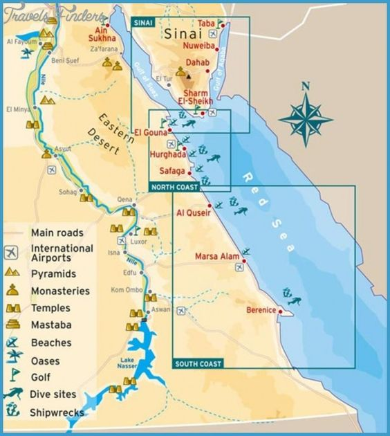 Egypt Map Tourist Attractions travelsfindersegypt – Egypt Tourist Attractions Map