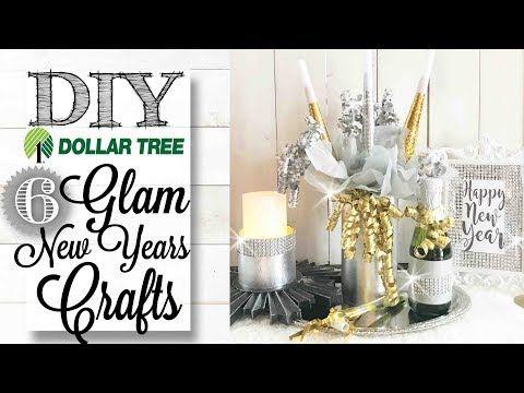 Diy Dollar Tree Glam New Years Crafts Decor Youtube Dollar Tree Diy New Year S Crafts Dollar Tree Decor
