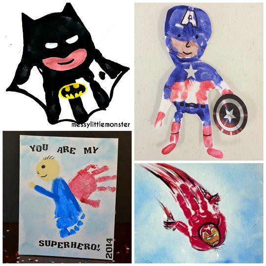 Amazing Superhero Handprint Crafts For Kids Hand Prints