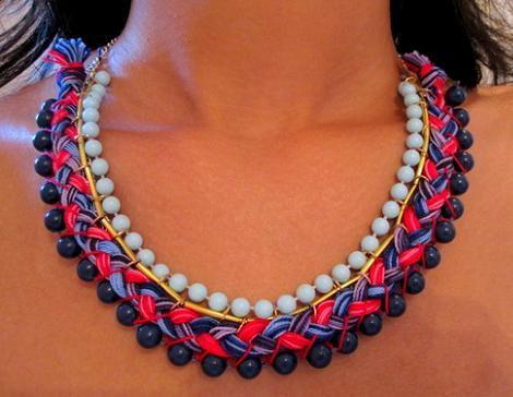 collar,etnico,diy www.ideasdiy.com/ Collar étnico paso