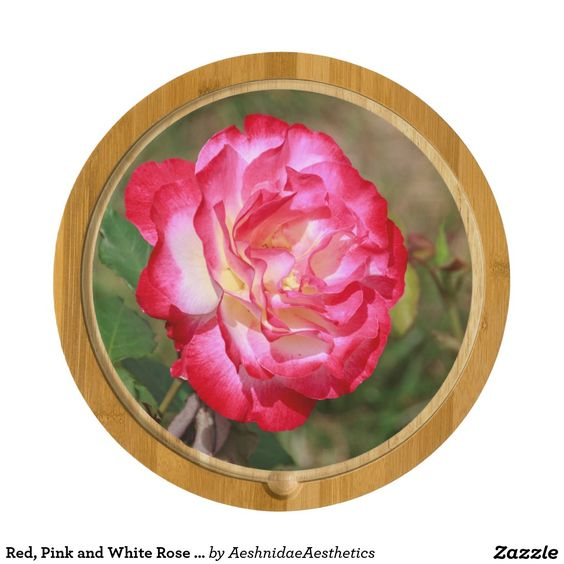 Red, Pink and White Rose Cheese Cutting Board