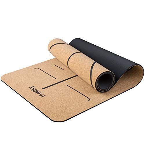 Kork Yogamatte rutschfeste Matte Yoga Sportmatte Fitnessmatte mit Tragegurt