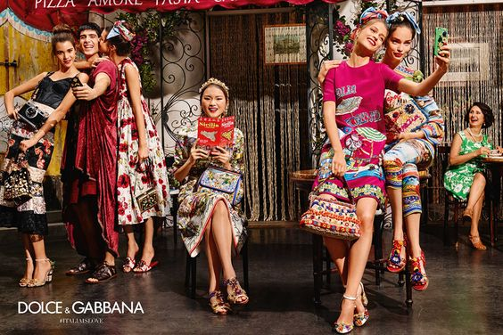 DOLCE & GABBANA, C-: Not only are we disappointed with the fact that D&G has used this wild, colorful, ensemble cast concept for several seasons now, but the insensitive cultural stereotypes that are depicted here really rubbed us the wrong way..