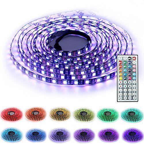 SINOU 5-Meter Waterproof Flexible Color Changing RGB SMD…