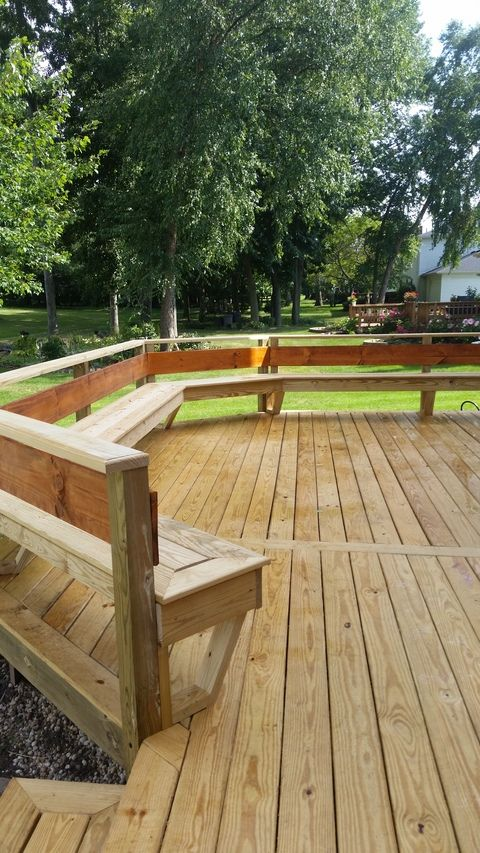 Custom Built Deck With Built In Seating Deck Designs Backyard Built In Seating Deck Seating