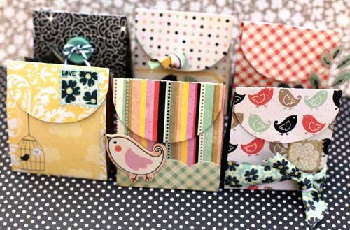 Gift bags (Tutorial & Template) Super cute!