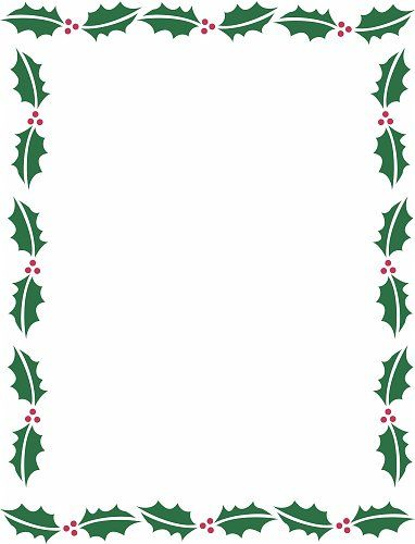 holiday borders for microsoft word