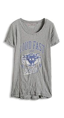 Baumwoll-T-Shirt mit Frontprint