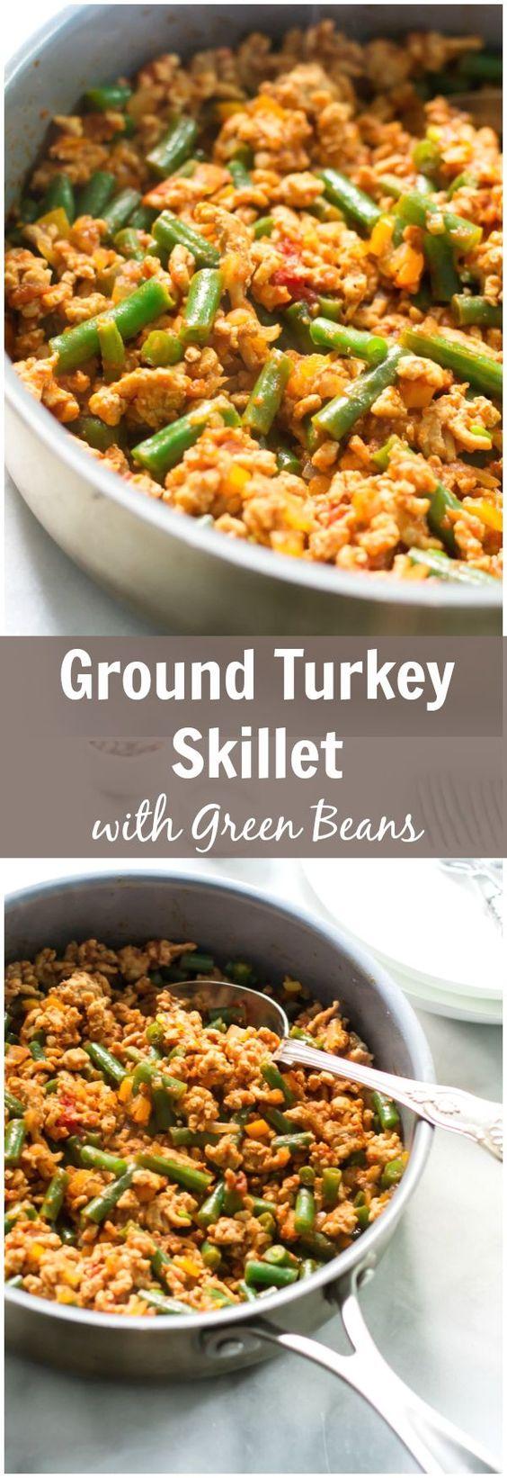 Ground Turkey Skillet With Green Beans