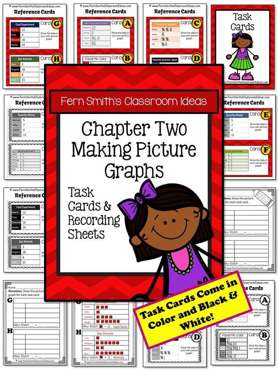 Making Picture Graphs Task Cards and Recording Sheet No Common Core {An additional Go Math resource for 3rd grade, Chapter 2.} #TPT #nocommoncore $Paid