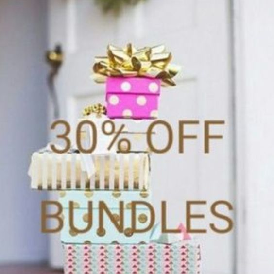 JUST UPPED MY DISCOUNT! All bundles are now 2 items or more 30% off!!! How great is that?! Go get those items you've been eyeing! PLUS I will ship out TOMORROW if you purchase by TONIGHT! Happy Poshing! Xo! Tops