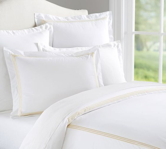 Grand 280-Thread-Count Embroidered Duvet Cover & Sham | Pottery Barn