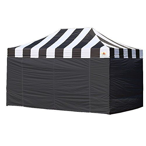 Abccanopy 10 X 15 Carnival Pop Up Canopy Popcorn Cotton Candy Vending Tent 4 Sidewalls 2 Sideskirt 1 Wheeled Bag 4 Black Walls Outdoor Supplies Canopy