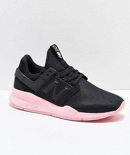 New Balance Lifestyle 247 V2 Black & Himalayan Salt Pink Shoes ...