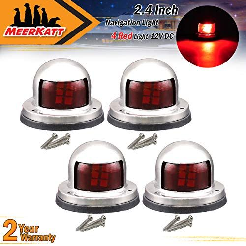 Pack Of 4 Meerkatt Red Led Marine Sailing Signal Navigation