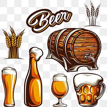 Cartoon Retro Beer Beer Icon Beer Cartoon Beer Vector