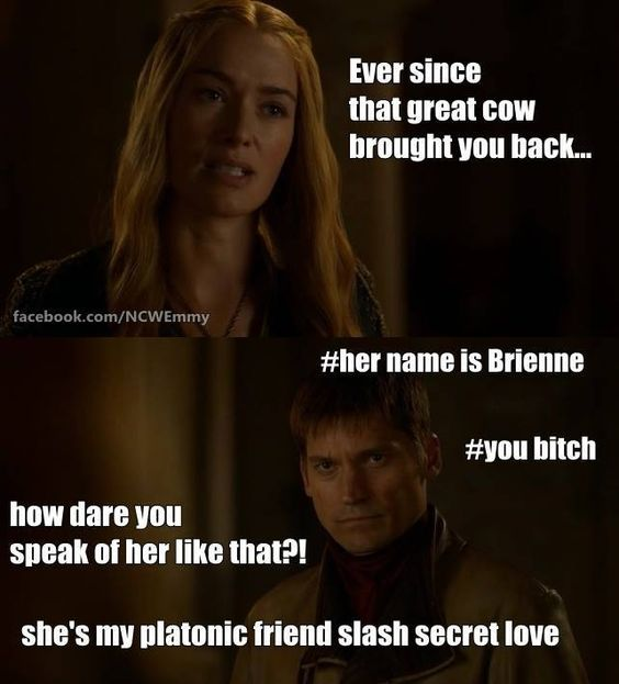 What many of us hope was going through Jaime's mind during this scene...